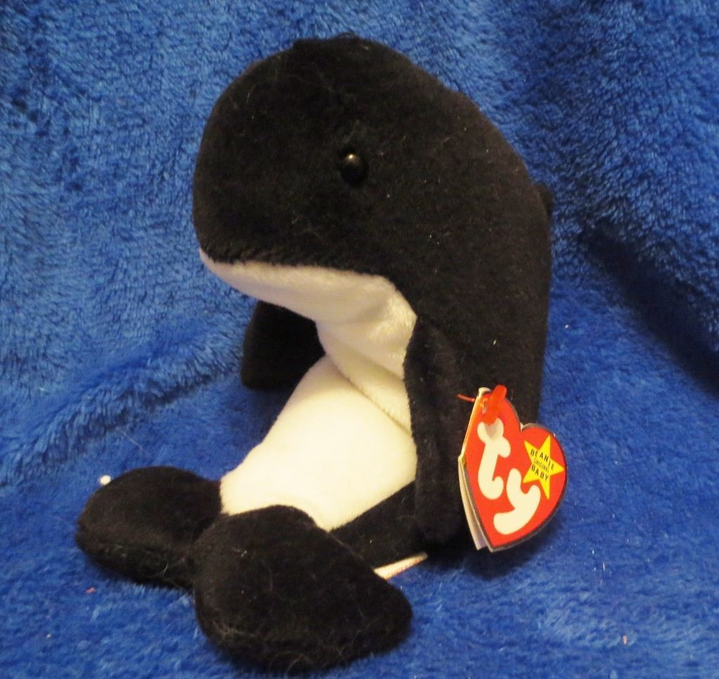 Ty Beanie Baby Waves 4th Generation Style 4084 PVC Filled 1996