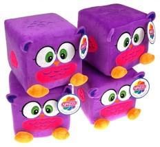 "Nanco Qubz Owl Purple Lot of 4 Soft Plush Stuffed Animal 6"" Cube Toy - $7.99"