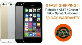 Apple iPhone 5S 16GB / 32GB Smart Phone T-Mobile AT&T Metro Cricket h2O Unlocked - $24.80+