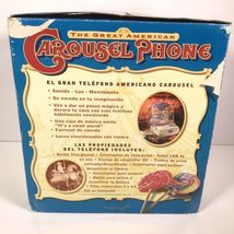 Great American Musical Merry Go Round Carousel Corded Novelty Phone Wind Up image 11