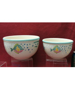 "Two (2) STUDIO NOVA China - BARRIER REEF Pattern - 6"" and 7 1/4"" MIXING ... - $39.95"