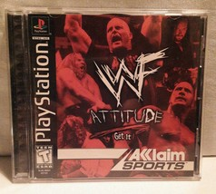 WWF Attitude: Get It!  (Sony Playstation 1 PS1) Complete WWE Wrestling - $9.90