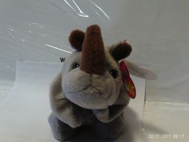 1ST Edition Beanie Babies Rare Spike the Rhino, No star, No stamp, PVC image 3