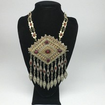 "145.6g, 26""Turkmen Necklace Pendant Vintage Gold-Gild Boho Statement Boho,TN472 - $138.60"