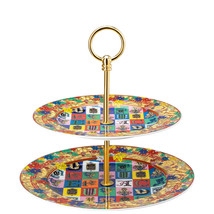 Versace by Rosenthal Holiday Alphabet Etagere 2 tiers - $457.80