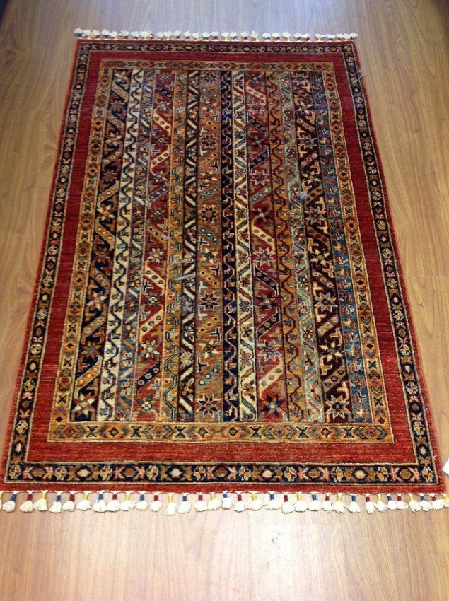 "Primary image for Handmade Multi-colored Oriental Shawl Rug KAZAK 7' 0"" X 9' 5"""