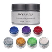 Hair Styling Color Wax DIY One Time Cream Temporary Molding Paste Seven ... - $10.06