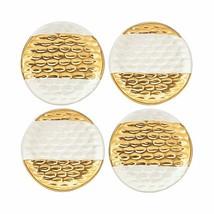Michael Wainwright Truro Gold Canape Plates Set Of 4 Appetizer Tidbit Lenox NEW - $65.00