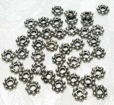 10 Pcs. 7mm Daisy Spacer Fine Pewter Beads - 1.5x7x7mm; 2mm Hole