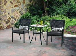 Bistro Set 3-Piece Outdoor Patio Table Chairs Garden Furniture Porch Bac... - $163.70