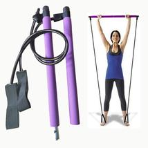 Multi-functional Yoga Pull Rods Portable Gym Pilates Bar with Resistance... - $19.99+