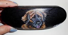 Leonberger dog Art Portrait Eyeglass Glasses Spectacles Case Hand Painted - $30.00
