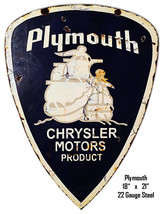 Plymouth Chrysler Reproduction Laser Cut Out Metal Sign 18x21 - $52.47