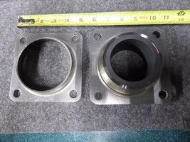 Metallized Carbon CO 4 Bolts Carbon Sleeve Flange Bearing 7544818, 316SS image 1