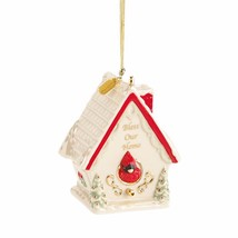 Lenox 2016 Bless Our Home Ornament New House Cardinal Birdhouse Christma... - $38.00