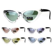 Womens Designer Cat Eye Color Mirror Mod Goth Sunglasses - £7.13 GBP
