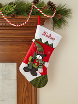 Personalized Snow Cap Christmas Stocking, Available in 11 Designs Charac... - $46.26