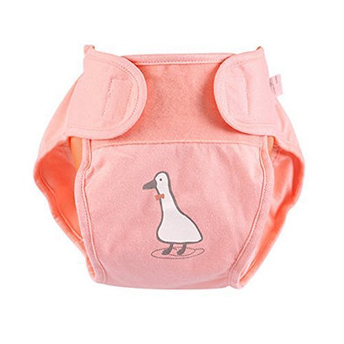 Lovely Baby Leak-Free Diaper Cover with Magic Tape (6-12 Months, Pink)