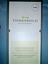 Threshold Performance Solid Pillowcases 400 Thread Count, Blue, King free ship image 3