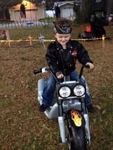Toddler 4 Harley Davidson Faux Leather Fully Lined Jacket Black Biker - $37.39