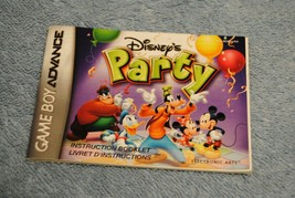 Nintendo Game Boy Advance Instruction Book Booklet Disney's Party - $8.00