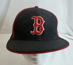 Boston Red Sox Cap Hat 100% Wool Black New Era 7 1/8 Fitted - ₹1,193.34 INR