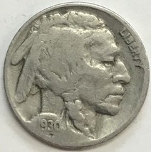 1930 BUFFALO NICKEL  GREAT COIN  FINE CONDITION     #217 - $3.56