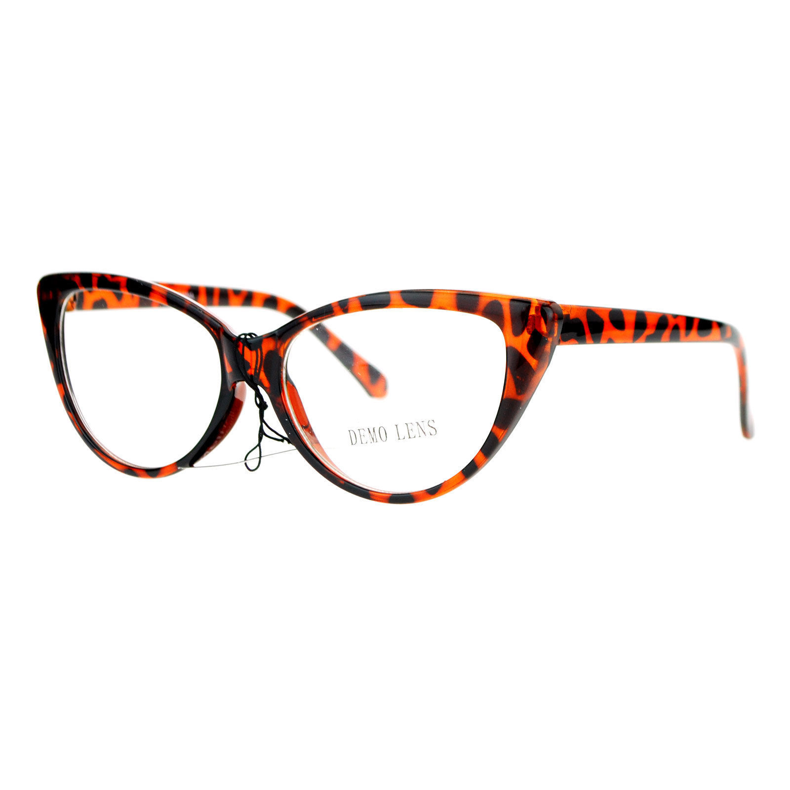 SA106 Womens Classic Gothic High Point Cat Clear Lens Eye Glasses