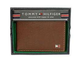 Tommy Hilfiger Men's Logan Bifold Zipper Coin Credit Card ID Wallet 31TL220036 image 5
