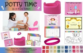 ULTIMATE POTTY TRAINING SYSTEM-girl POTTY- RAINBOW CHART - $16.03