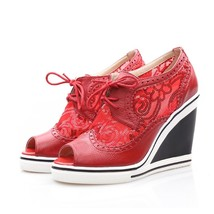 8s006 elegant mesh & sequin Martin sandals, US Size 4-8.5,red - $62.80