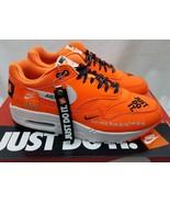 Nike Womens Air Max 1 LX Orange Black Just Do It Shoes JDI 917691-800 Si... - $128.69