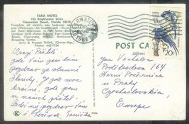 1968 20 cents Jays on postcard Clearwater FL (Feb 6) to Czechoslovakia - $4.00