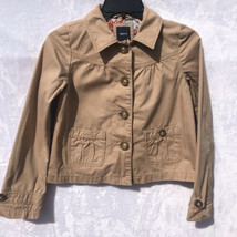 GAP Kids Girls Jacket Coat Tan Camel Button Up Lined Kids Size XL - $15.84