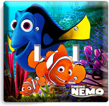 Finding Nemo Clown Fish Dory Sea Coral Reef Double Light Switch Wall Plate Oc EAN - $11.69