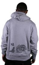 Dissizit FYSP F*ck Your Skate Park Pullover Hoodie in Red or Heather Sweater NWT image 4