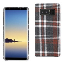 Reiko Samsung Galaxy Note 8 Checked Fabric Case In Brown - $9.80