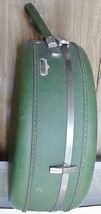 Green American Tourister Round Tiara Round Hat Box Train Case - $77.43
