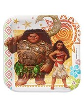 """American Greetings Moana Paper Dessert Plate, 8-Count, Multicolored, Measures 7"""" - $3.75"""