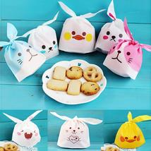 10pcs/lot Cute Rabbit Ear Cookie Bags Gift Bags For Candy Biscuits Snack... - $0.00+