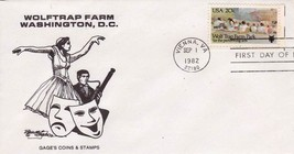 (12PCS) WOLF TRAP FARM PARK 1982 FDC #2018 you are buying 12 (12) pcs-FR... - $5.94