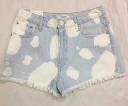 Forever 21 Frayed Cut Off Bleach Splatter Destroyed Denim Jean Shorts 29 / M NEW - $19.37