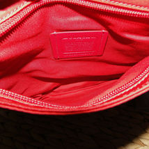 Coach Nylon Crossbody NWT True Red F22346 image 8