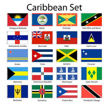 Caribbean 3x5' Flag Set of 20 Country Lightweight Polyester Flags NEW - $158.40