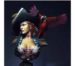 Unpainted ANNE bust pirate woman bust figure Historical WWII Figure Resi... - $62.00