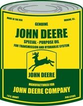 Genuine John Deere Special- Purpose Oil Can Metal Sign - $49.95