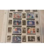 Set of 7 Disney Stamps 1981 Christmas from Grenada Cinderella, MNH - $11.14