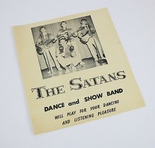 "Vintage 1940's Dance & Show Band "" THE SATANS "" High School Music Advert... - $32.35"