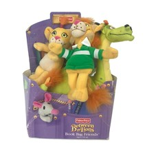 Vintage 2000 Fisher-Price Between the Lions Book Bag Plush In Package - $32.73
