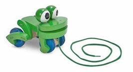 Wooden Frolicking Frog Pull Toy-Melissa and Doug - $18.00